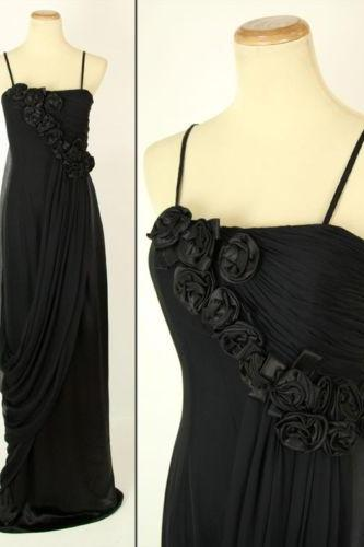 Pageant dresses exquisite high quality sexy black long prom dress applique sling type formal occasions UK4473