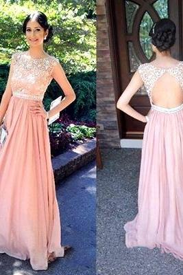 Open back Lace Prom Dress, Long Blush pink prom Dress, Lace Prom Dress, dresses for Prom, sexy prom dresses,fashion prom dresses UK4507