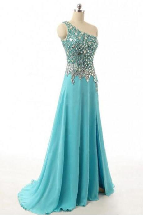 One Shoulder Chiffon Prom Dresses,Party Dresses DW00432 UK4589