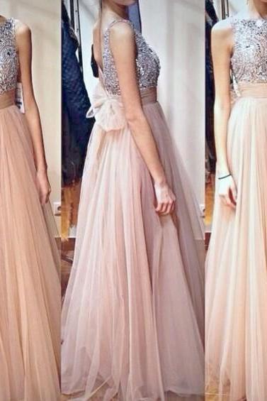 Nude Evening Dresses,Jewel Evening Dresses,Backless Evening Dresses,Crystal Evening Dresses,Tulle Evening Dresses,A Line Evening Dresses,Formal Evening Dresses,Pageant Prom Dress,Custom Evening Gown UK4666