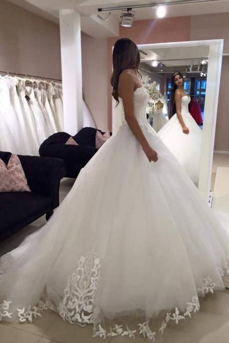 NEW STRAPS BALL GOWN NET CHARMING WEDDING Wedding Dress Bridal Dress Gown Wedding Gown Bridal Gown Lace Tulle Bridal Dress UK4769