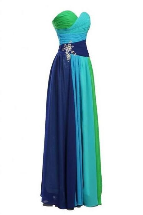 Multi Colored Prom Dress Evening Party Gown DW00471 UK5157