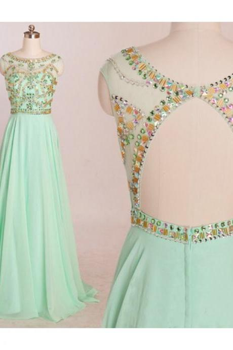 Mint Prom Dresses, Backless Evening Dress, Mermaid Evening Dress, Unique Prom Dresses, Sexy Prom Dresses, 2015 Prom Dresses, Popular Prom Dresses, Dresses For Prom UK5228
