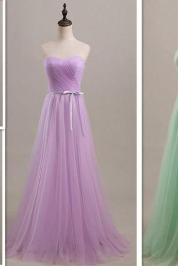 Mint green tulle A line floor length prom dress,pleat lace up bridesmaid dress,formal evening dresses,party dress,graduation dress UK5242