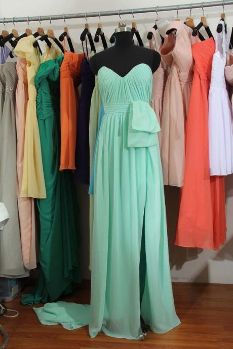 Mint Bridesmaid Dress, Custom bridesmaid dress, Long bridesmaid dress,Chiffon Bridesmaid Dress, Cheap Bridesmaid Dress, BD2709 UK5281