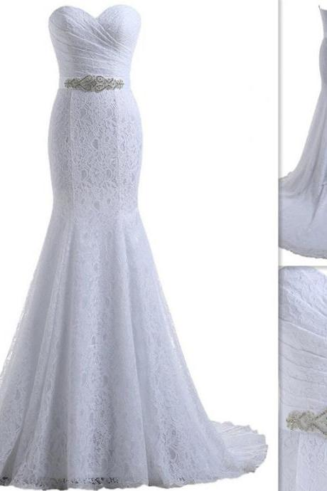 Mermaid Sweetheart Lace Wedding Dresses Bridal Gowns UK5318